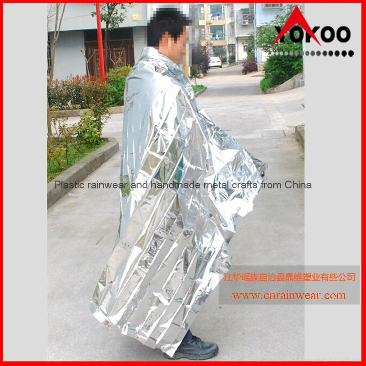 130cmx210cm Emergency mylar thermal blanket 2