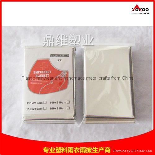 130cmx210cm Emergency mylar thermal blanket 10