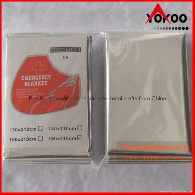 130cmx210cm Emergency mylar thermal blanket 12