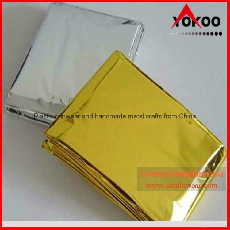 130cmx210cm Emergency mylar thermal blanket 14