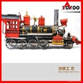 Handmade antique metal train model for collection 2
