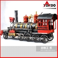 Handmade antique metal train model for collection 5