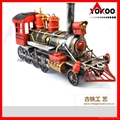 Handmade antique metal train model for collection 6