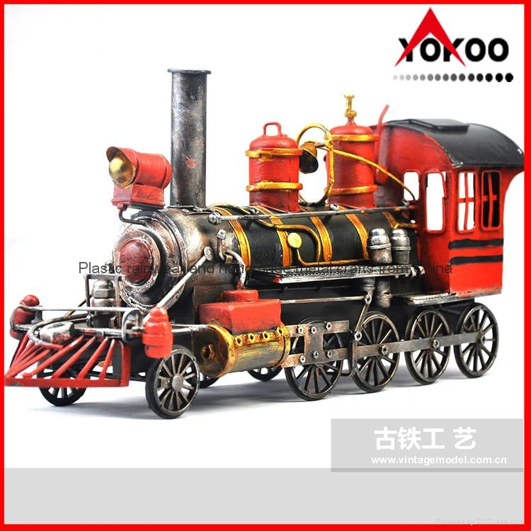 Handmade antique metal train model for collection 7