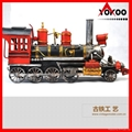 Handmade antique metal train model for collection 11