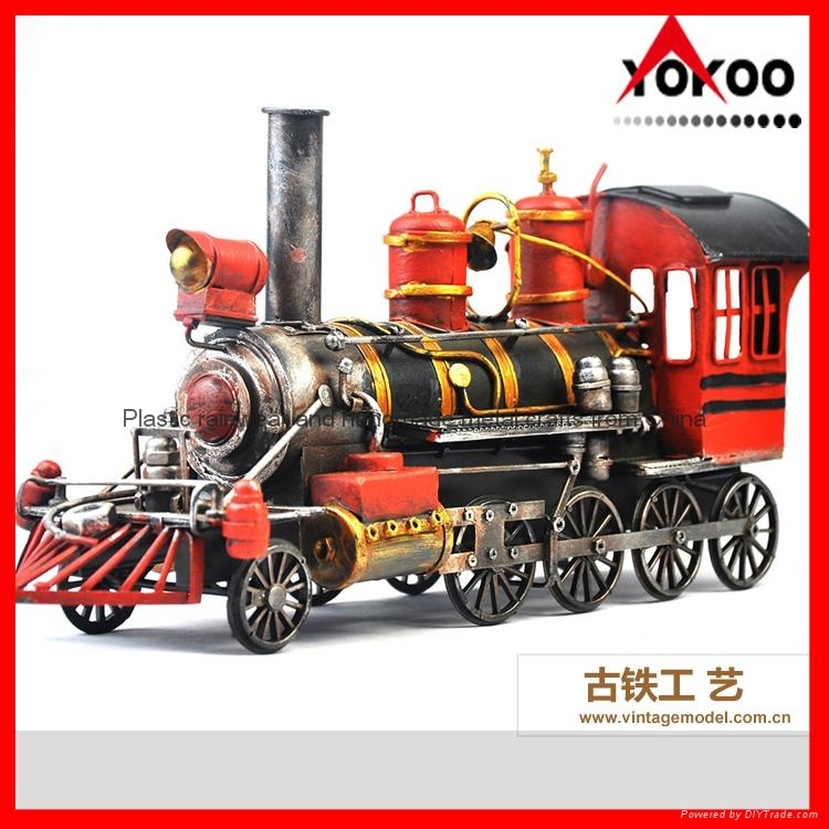 Handmade antique metal train model for collection 12