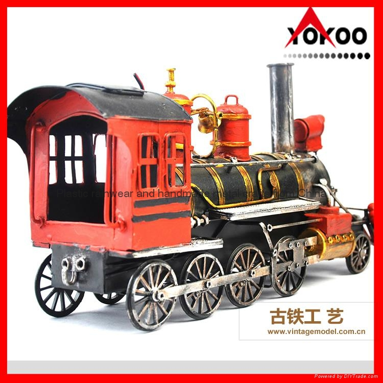 Handmade antique metal train model for collection 13