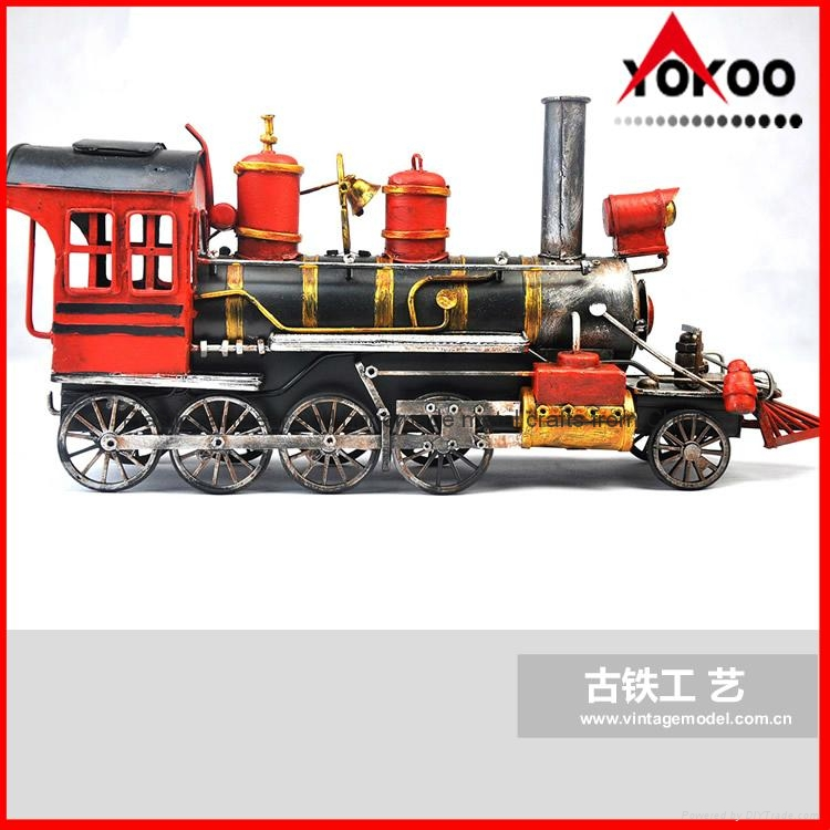 Handmade antique metal train model for collection 15