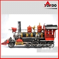 Handmade antique metal train model for collection