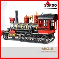 Handmade antique metal train model for collection 19