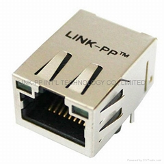 LU1T516-34 LF RJ45 connector with magnetics cabo utp cabo ethernet cabo rj45