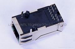 JK0-0161NL RJ45 Magnetic Connector With EMI Finger Gigabit PCBA