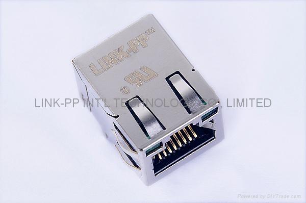 5-6605706-1 Tab Up Single Port RJ45 RJ11 Connector