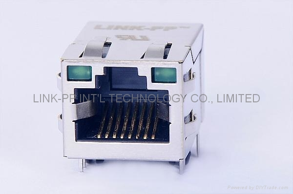 6605706-1 Tab-Up 10/100 Base-T RJ45 Connector With Transformer