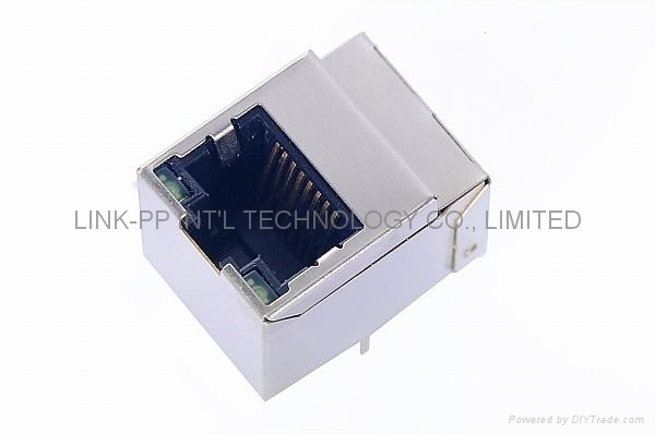 203323 Vertical RJ45 Connector Female with LEDs