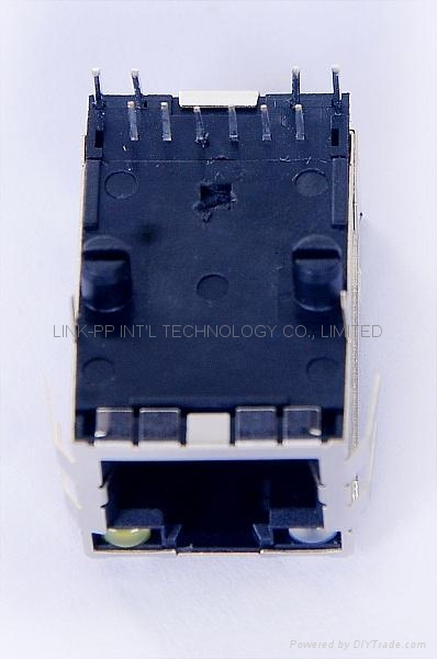 08BO-1X1T-36-F 1X1 Port RJ45 Connector With 90 Degree