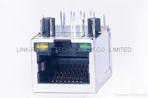 J1011F01PNL 1X1 Port RJ45 Modular Jack With LED