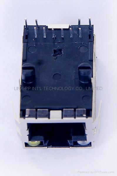 47F-1206-YGD2NL Single Port RJ45 Modular Plug With Magnetics