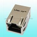 JP06821UNL 10/100 Base-T RJ45 Ethernet Jack With Shielded