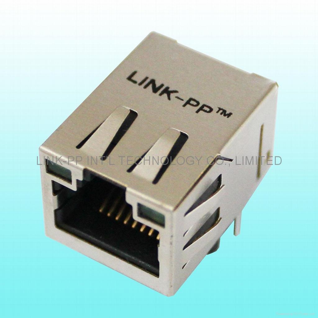 HFJ11-RP44e-S1L12RL Single Port Ethernet RJ45 Plug for Industrial PoE Switch