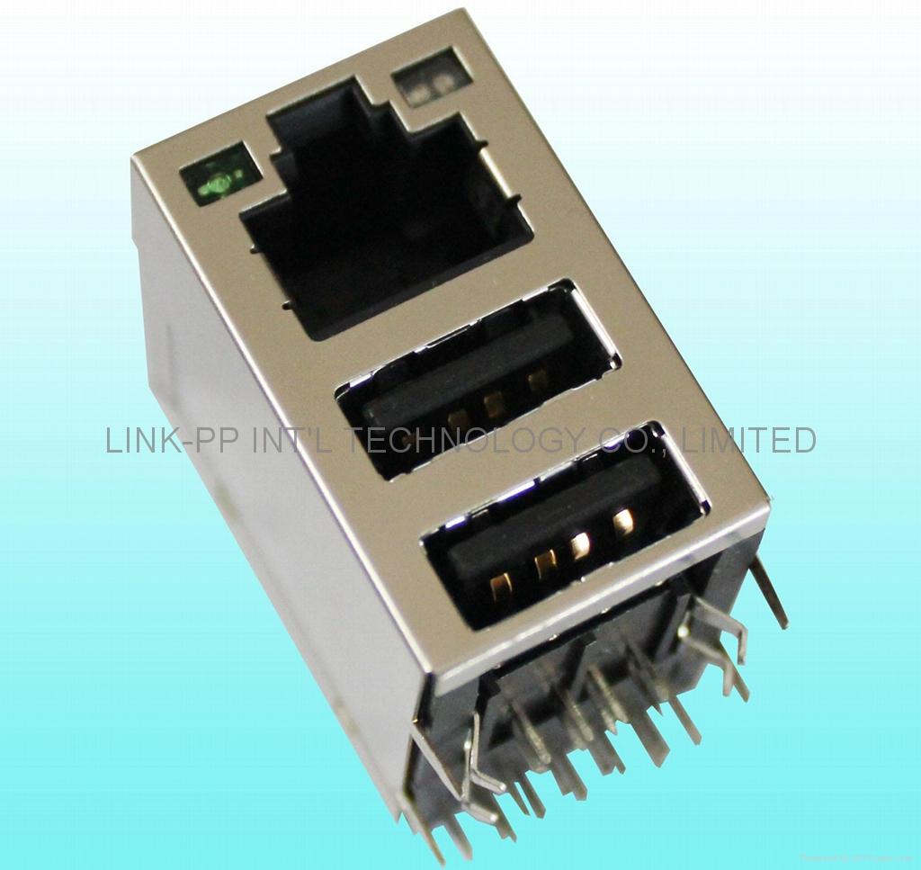 RJLUG-308TA1 RJ45 connector cavo ethernet incrociato connettore usb
