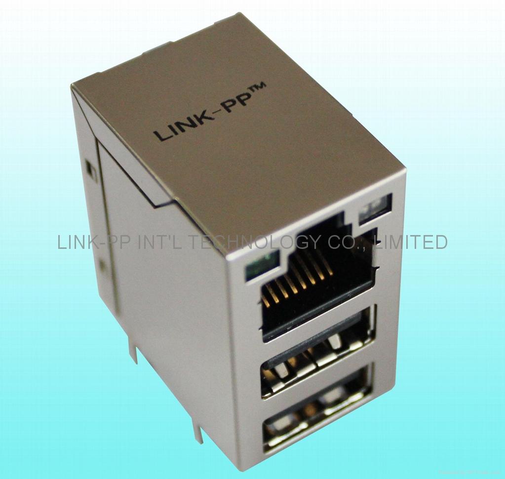 RJLUG-034TA1 RJ 45 Modular Plugs  SMT 100M RJ 45 Connectors stecker