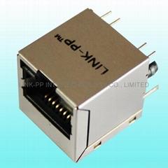 TJL-002LA1  RJ-45 Modular Jack / 100M RJ 45 PCB Connectors usb einbaubuchse