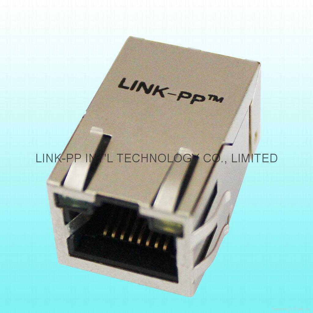 RJ-034TC1 Tab Up Shielded RJ45 Plug For PCB Board