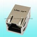 LU1S041XLF Amp Single Port RJ-45 Cat6 Modular Jack With Magnetics