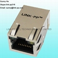 6-6605811-1 1X1 Port RJ45 Magjack Connector For PoE Network Switches