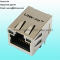 RT7-104AG41A Single Port RJ45 Connector Shielded With Magnetic