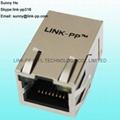 LF1S022-34LF Single Port RJ45 Jack Module For PCB Board