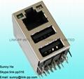 RJLUG-033TA1  RJ45 Connector Cavo Ethernet Incrociato Connettore Usb