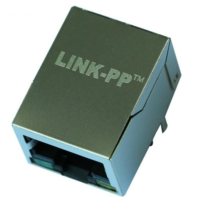 HFJ11-1075E-L12RL Tab Down 10 Base-T 1 Port RJ45 Connector Magjack