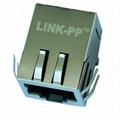 5569257-1 Tab Down 1X1 RJ45 Stacked PCB Modular Jacks Without LED