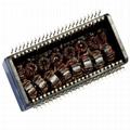 20PT1024XLF 10/100 Base-t Quad Port THT Transformer Modules