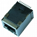 49F-1201YGD2NL SMT RJ45 Connector with 10/100 Base-T Integrated Magnetics