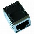 5-6605809-5 1000 Base-t 1 Port RJ45 Magnetics Connector With LED Light