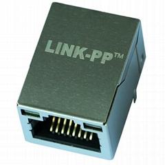 LMJ201 881X 100D LXT1B Tab Up Single Port RJ45 Jack Module With LED