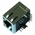 J1026F21CNL 100 Base-TX RJ45 1x1 Integrated Magnetics Connector