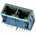 6610005-6 1x2 Gigabit Magnetic modular Jack