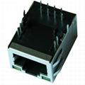 1-6605834-1 Tab Up 10/100 Base-t 1 Port RJ45 Jack With Magnetics