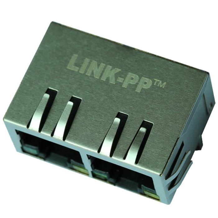 J8064D628ANL 1x2 port RJ45 Connector With Gigabit Integrated Magnetics