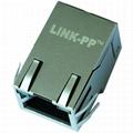 JXR1-0015NL Tab Up 1X1 Port RJ45 Modular Plug With LED