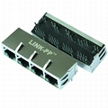 P57-PA3-11D9 1X4 Port RJ45 Connector With Integrated Magnetics