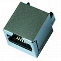SI-46001-F 10/100 Base-t Vertical RJ45 Modular Plug With Magnetics