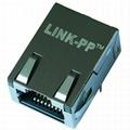L869-1J1T-32 1000 Base-t Single Port Low Profile RJ45 Connector Magjack
