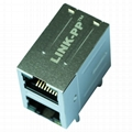 0845-2D1T-H5 2X1 10/100 Base-t RJ45 Connector With Magnetics