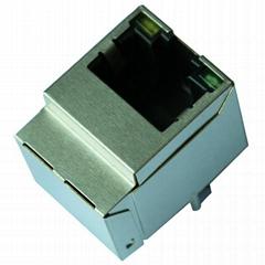 HFJV1-2450-L12RL/HFJV1-E2450-L12RL 10/100 Base-t Vertical Fastjacks