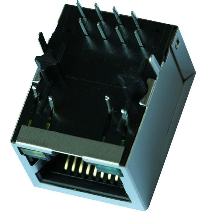J0006D01BNL 100 Base-t 1 Port RJ45 Connector Magjack With 90 Degree